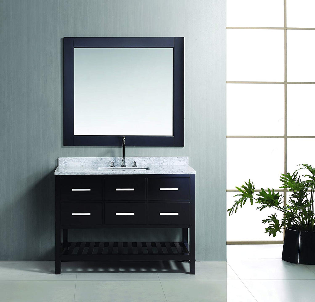 "London 48"" Single Sink Vanity Set in Espresso Finish"