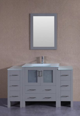 "Image of 54"" Bosconi AGR130EWGU2S Single Vanity"