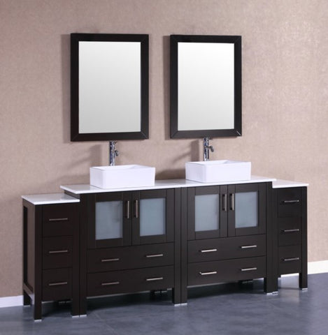 "Image of 84"" Bosconi AB230CBEPS2S Double Vanity"