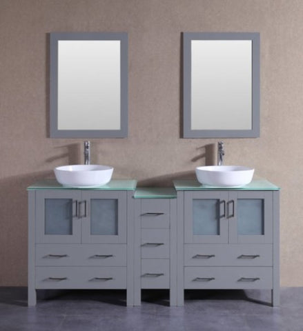 "Image of 72"" Bosconi AGR230BWLCWG1S Double Vanity"