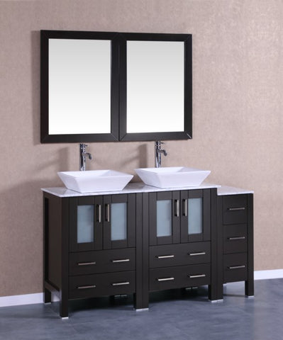 "Image of 60"" Bosconi AB224SQCM1S Double Vanity"