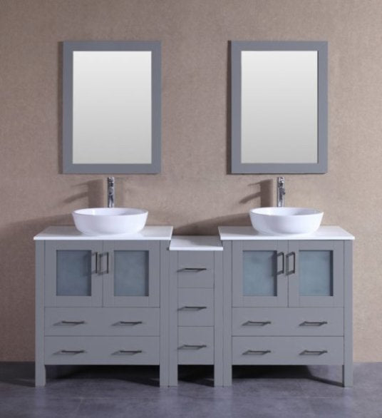 "72"" Bosconi AGR230BWLPS1S Double Vanity"