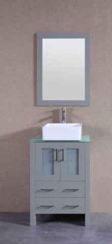"Image of 24"" Bosconi AGR124CBECWG Single Vanity"