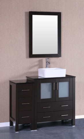 "Image of 42"" Bosconi AB130CBEBG1S Single Vanity"