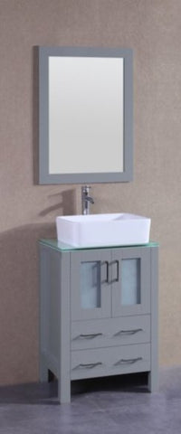 "Image of 24"" Bosconi AGR124RCCWG Single Vanity"