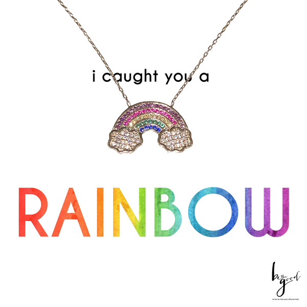 RAINBOW & CLOUDS NECKLACE