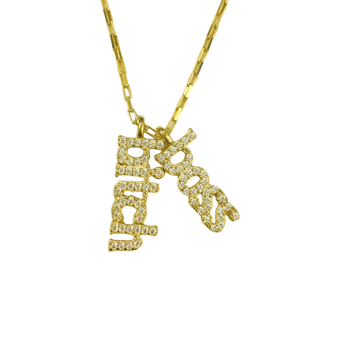BOSS BITCH CHARMS NECKLACE