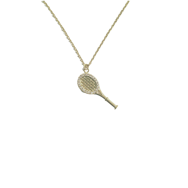 CLASSIC PAVE TENNIS CHARM NECKLACE
