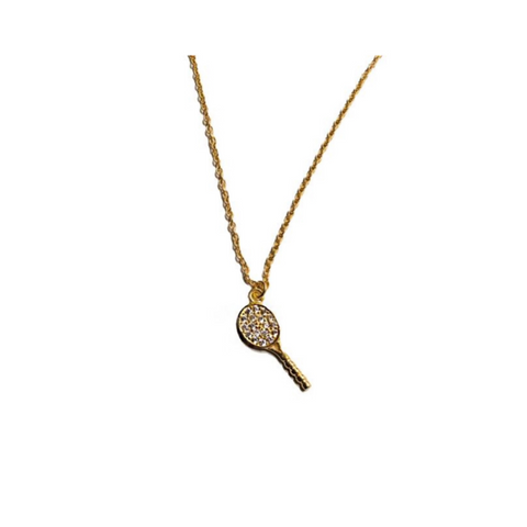 PETITE TENNIS RACQUET NECKLACE