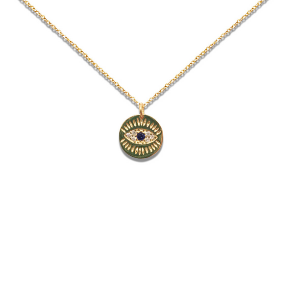 PETITE THIRD EYE KISS MEDALLION