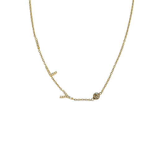 ILY PAVE NECKLACE
