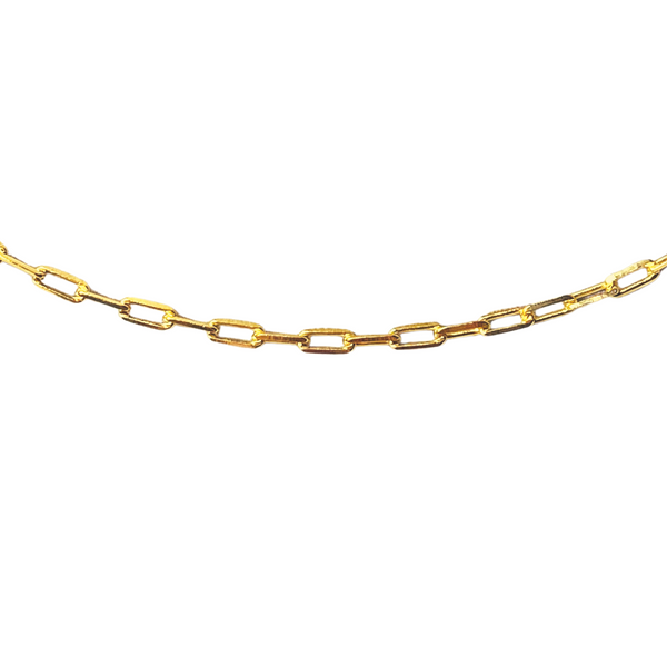 RECTANGLE BOX LINK 24 INCH CHAIN NECKLACE