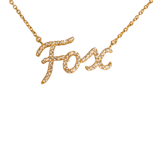 ZERO FOX GIVEN PAVE FOX NECKLACE