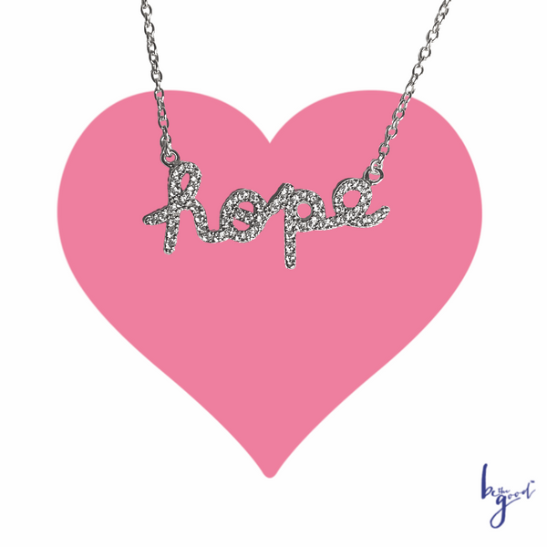HOPE PAVE NAMEPLATE NECKLACE