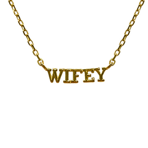 WIFEY NAMEPLATE NECKLACE