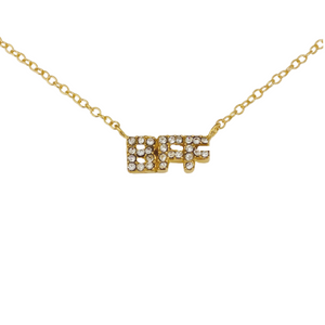 BFF PAVE INITIAL NECKLACE
