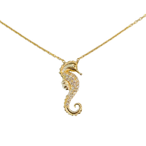 SEAHORSE PAVE NECKLACE