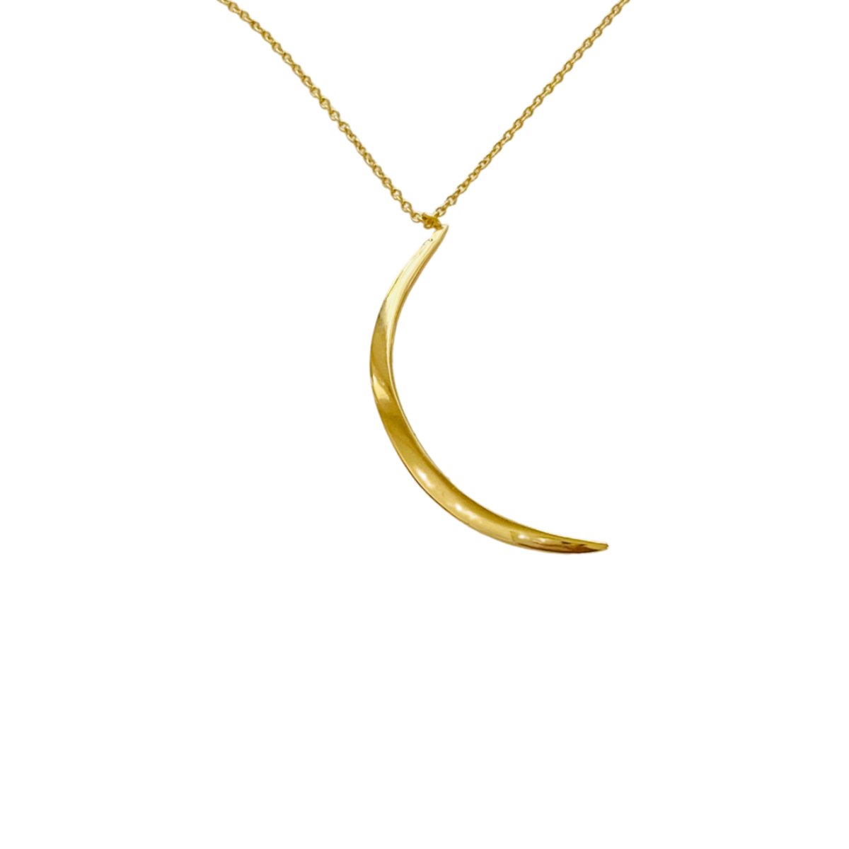HIGH SHINE CRESCENT MOON NECKLCE