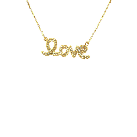 LOVE SCRIPT NAMEPLATE NECKLACE