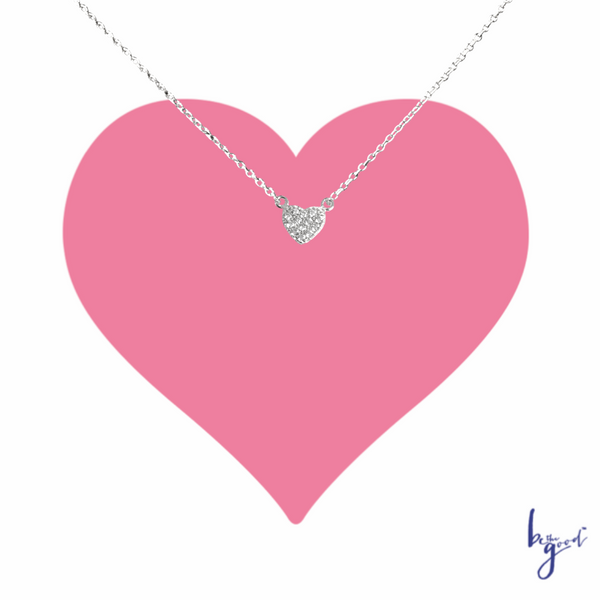 PETITE PAVE HEART NECKLACE