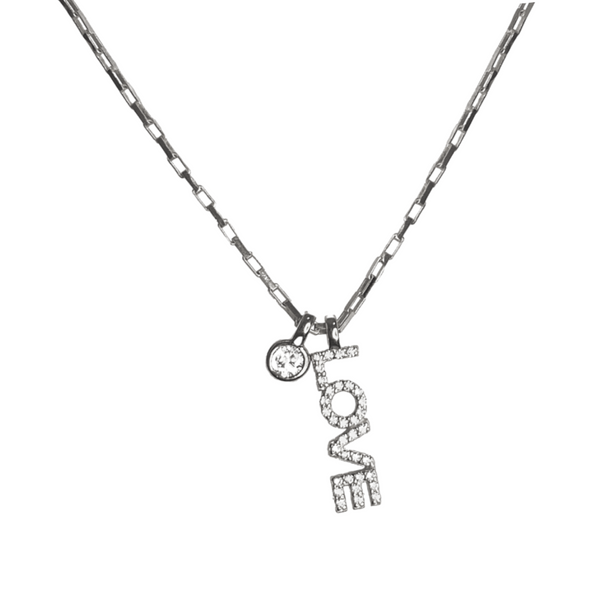 LOVE VERTICAL CHARM NECKLACE