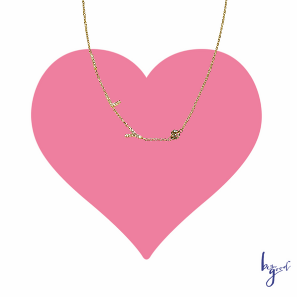 ILY ( I Love You)  PAVE NECKLACE