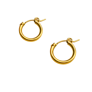 MIDI GOLD HINGE HOOPS
