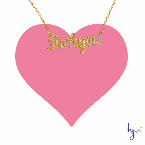 F#YOU NAMEPLATE NECKLACE