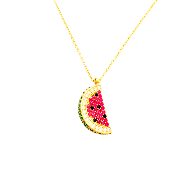 PAVE WATERMELON ICON NECKLACE