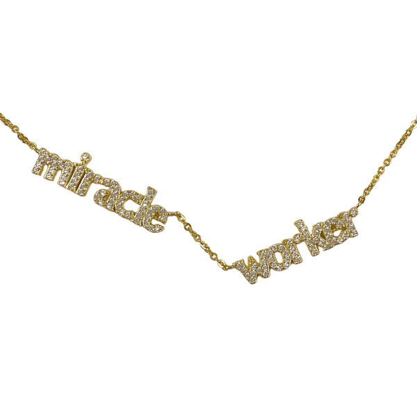 Miracle Worker Necklace in Gold