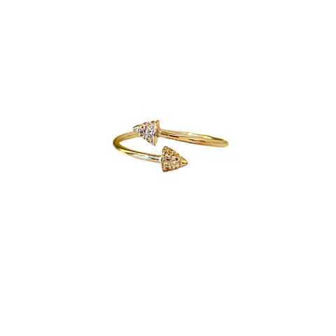 TRUE NORTH PAVE WRAP RING