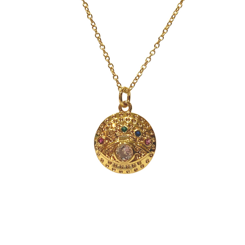 IRIS MEDALLION NECKLACE