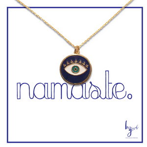 MATI ENAMEL THIRD EYE NECKLACE
