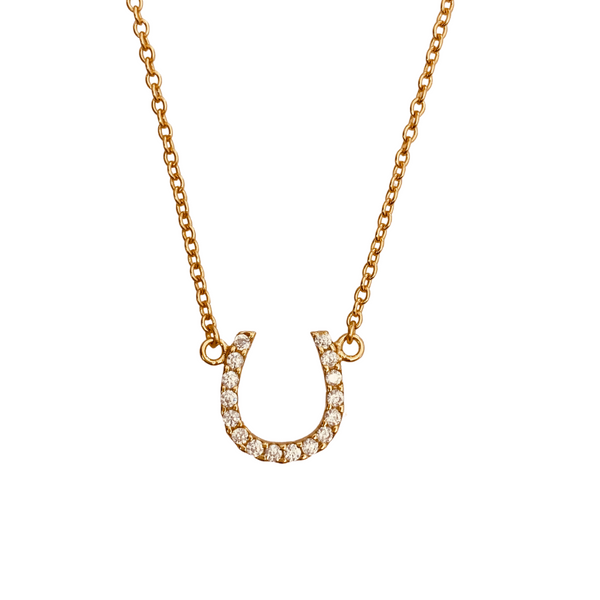 PETITE PAVE HORSESHOE NECKLACE