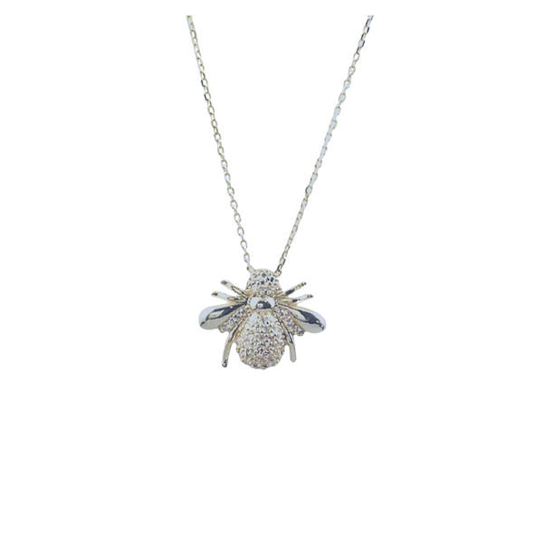 PAVE BEE NECKLACE