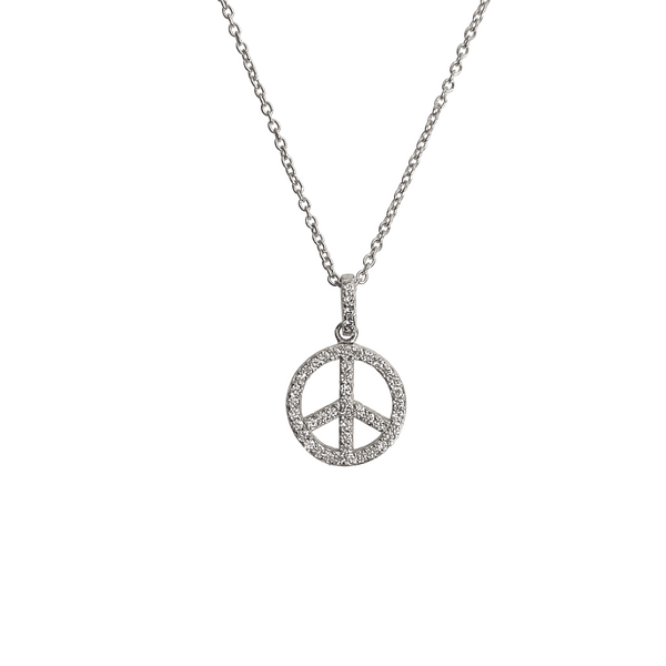 PEACE PAVE NECKLACE