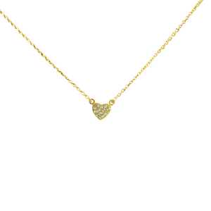 LOVED PAVE HEART NECKLACE