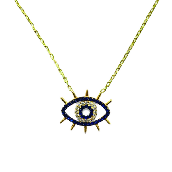 WINK WINK LASH PAVE CRYSTAL NECKLACE