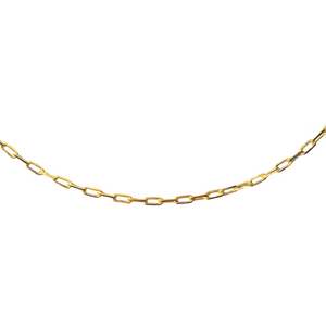 BOX LINK 28 INCH RECTANGLE CHAIN NECKLACE