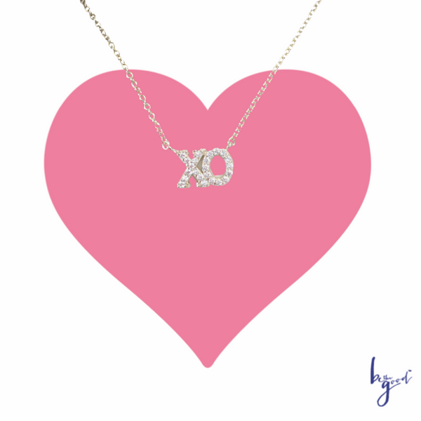 XO PAVE NECKLACE