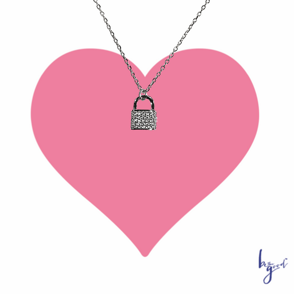 PAVE LOCK NECKLACE