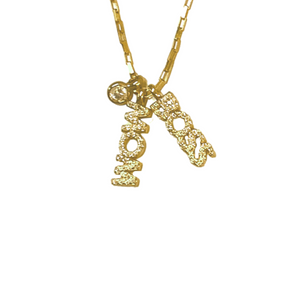 MOM BOSS DUO CHARM NECKLACE