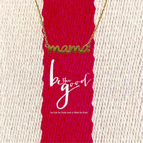 MAMA SCRIPT NECKLACE