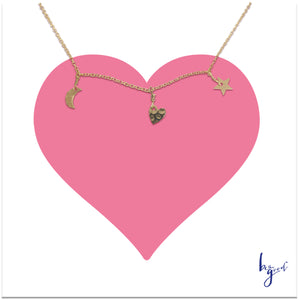 CONSTELLATION TRIO CHARM NECKLACE