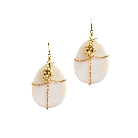 SHELL CAGE DANGLES
