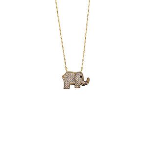Elephant Pave Necklace