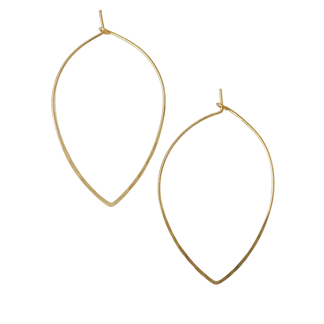 FINEWIRE LEAF HOOP EARRING