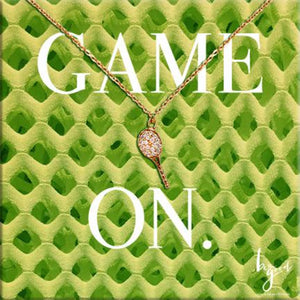 GAME ON TENNIS RACQUET NECKLACE - GREEN