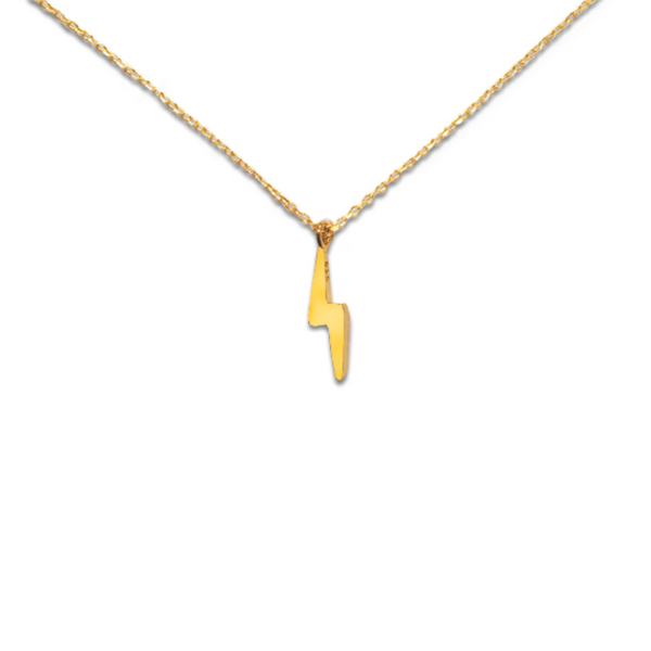 GOOD VIBES BOLT ICON NECKLACE
