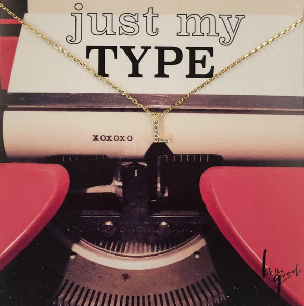 JUST MY TYPE A-Z NECKLACE